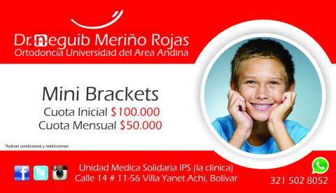 Mini Brackets - Publicidad Valida para el municipio de Achi Bolívar, Majagual Sucre y Guaranda Sucre