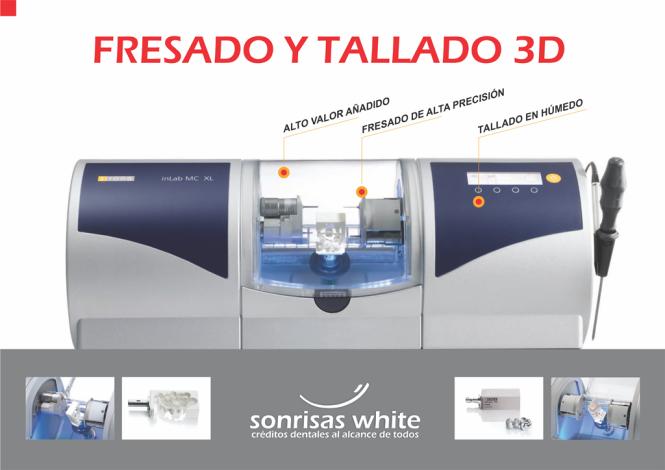 05 Tecnologia CadCam - Fresado y Tallado 3D - Sonrisas White